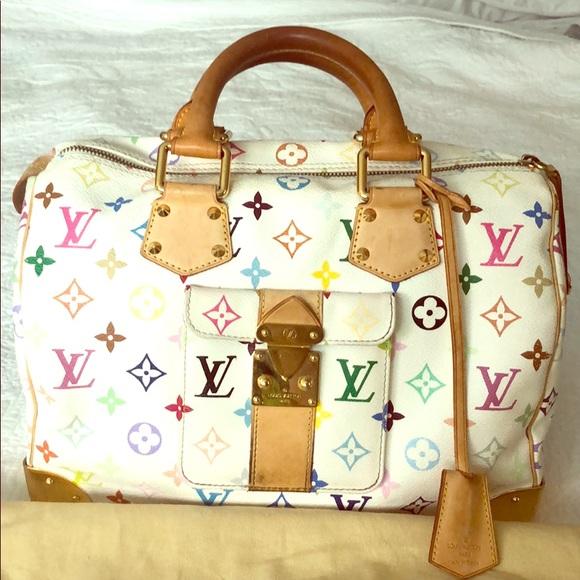 Louis Vuitton Handbags - LOUIS VUITTON Multicolore Speedy 30